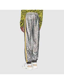 Laminated Sparkling Gg Jersey Jogging Pant by Gucci