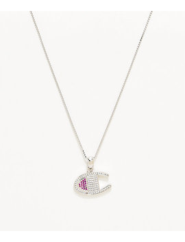 Champion Silver Heritage Pendant Women's Necklace by Champion