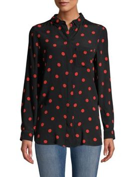 Barra Polka Dot Top by Ganni