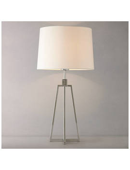John Lewis & Partners Lockhart Tripod Table Lamp, Chrome by John Lewis & Partners