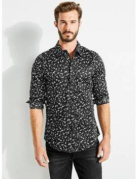 Luxe Stretch Dot Print Shirt by Guess