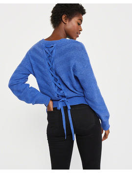 Lace Up Back Sweater by Abercrombie & Fitch