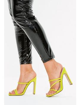 Lime Multi Strap Mules by Missguided