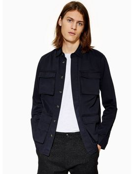 Navy Four Pocket Overshirt by Topman
