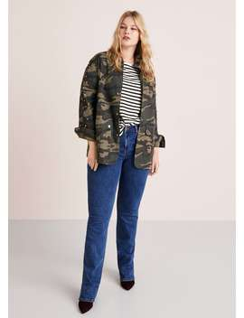 Beaded Military Jacket by Mango