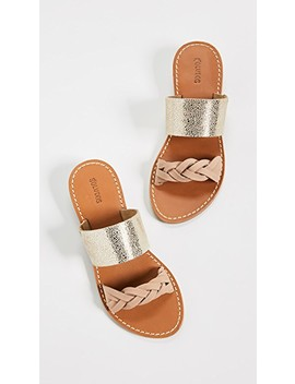 Metallic Braided Slide Sandals by Soludos