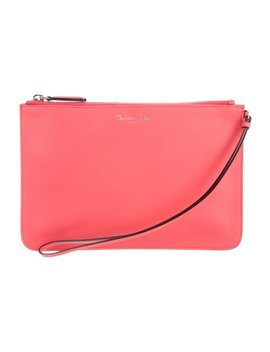 Leather Zip Clutch by Christian Dior