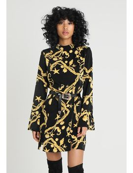 Chain Printed Dress   Kjole by Honey Punch