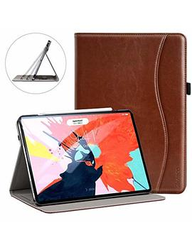 Ztotop For I Pad Pro 12.9 Case 2018, Premium Leather Slim Stand Cover Folio Case For I Pad Pro 12.9 Inch 3rd Generation (Latest Model) With Auto Sleep/Wake, Support Charge/Pair, Brown by Ztotop