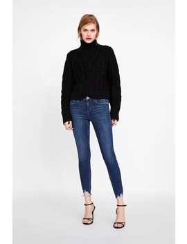 Z1975 Skinny Jeans With Frayed Hems  Jeanswoman New Collection by Zara