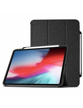 Pro Case I Pad Pro 12.9 Case 2018 With Apple Pencil Holder [Support Apple Pencil Charging], Protective Smart Cover Shell Stand Folio Case For Apple I Pad Pro 12.9 Inch 3rd Gen 2018 Release –Black by Pro Case