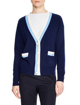 Clotilde Stripe Wool & Cashmere Cardigan by Sandro