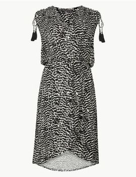 Jersey Print Wrap Beach Dress by Marks & Spencer