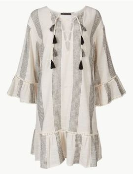 Pure Cotton Long Sleeve Beach Kaftan by Marks & Spencer