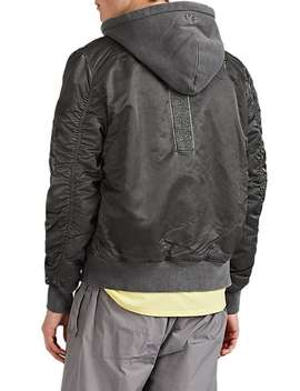 Ma 1 Tech Satin Hooded Flight Jacket by Alpha Industries