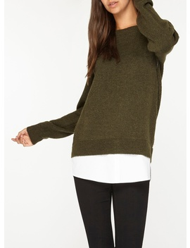 **Tall Green 2 In 1 Jumper by Dorothy Perkins