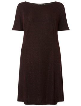 **Dp Curve Burgundy 'mariah' Skater Dress by Dorothy Perkins