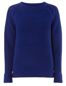 Cobalt Cable Shoulder Jumper by Dorothy Perkins