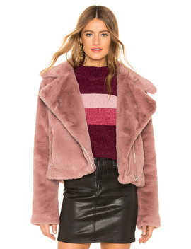 Sophie Faux Fur Moto by About Us