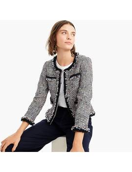 Lady Jacket In Multicolor Metallic Tweed With Braided Trim by J.Crew