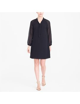 Long Sleeve Clip Dot Dress by J.Crew