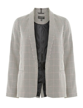 Multi Coloured Gun Checked Edge To Edge Blazer by Dorothy Perkins