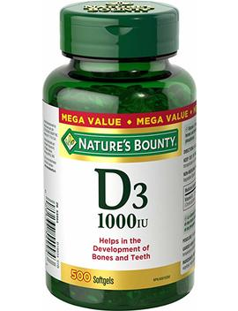 Nature's Bounty Vitamin D3 Pills And Supplement, Supports Bone Health And Immune System, 1000iu, 500 Softgels by Amazon