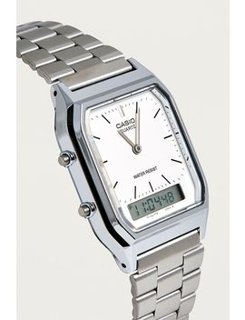 Casio Analogue Silver Watch by Casio