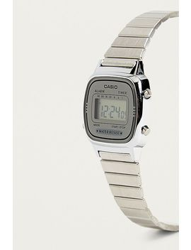 Casio Silver Face Digital Watch by Casio