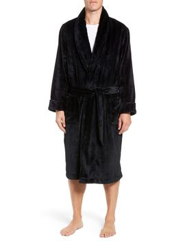Vertical Stripe Fleece Robe by Nordstrom Men's Shop