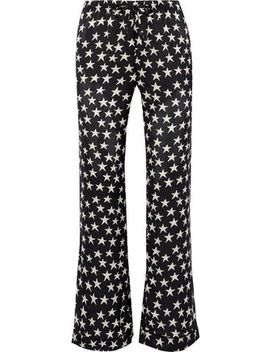 Billy Printed Sateen Pajama Pants by Love Stories