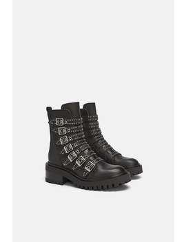 Bottines Style Motard  Chaussurestrf Soldes by Zara