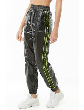 Staff Graphic Wind Joggers by Forever 21