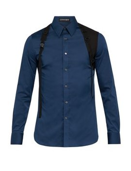 Harness Cotton Blend Poplin Shirt by Alexander Mc Queen