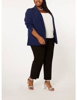**Dp Curve Navy Notch Sleeve Blazer by Dorothy Perkins