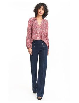 Women's Red Hideout Top by Nanette Lepore