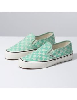 Distressed Checkerboard Slip On Sf by Vans