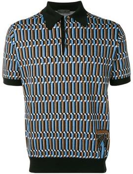 Jacquard Logo Polo Shirt by Prada