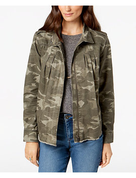 Petite Cotton Camo Print Jacket, Created For Macy's by Style & Co