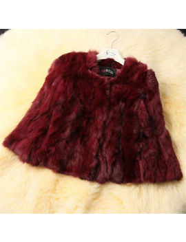 Women's 100 Percents Real Rabbit Fur Short Coat Top Jacket Chic Gift Outwear Xmas Gift by Unbranded