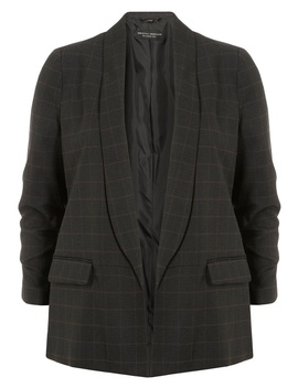 Grey Check Edge To Edge Jacket by Dorothy Perkins