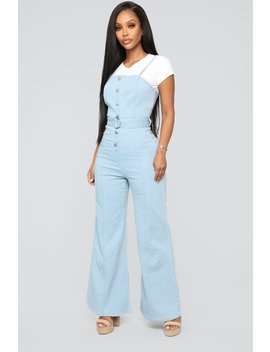 Hip To The Scene Denim Jumpsuit   Denim by Fashion Nova