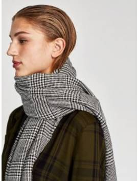 Houndstooth Fall Scarf   Gray One Szie by Zaful