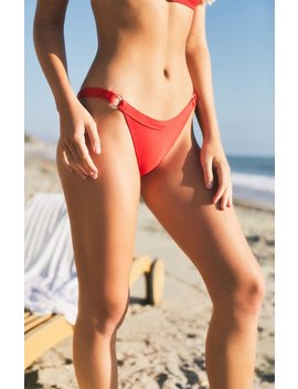 La Hearts Red O Ring Cheeky Bikini Bottom by Pacsun