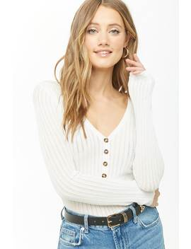 Ribbed Pointelle Top by Forever 21