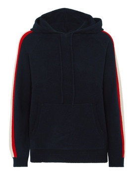 Striped Cashmere Hoodie by Chinti And Parker