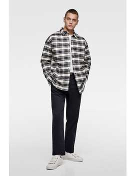 Padded Check Overshirt  Jacketsman New Collection by Zara