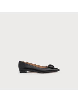 Jacqui Black Leather Flats by L.K.Bennett