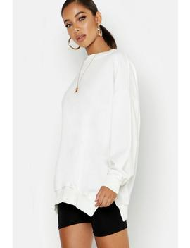 Gathered Hem Oversized Basic Sweat Shirt by Boohoo