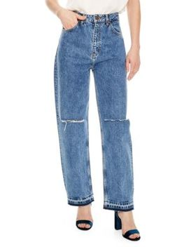 H18 Fluffy Distressed Jeans by Sandro